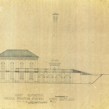 East elevation of Walka pumping station