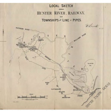 Original plan showing the scheme from William Clarks report to the NSW Governmetn 1877.
