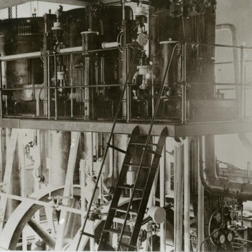 Triple expansion engine of the western pumphouse